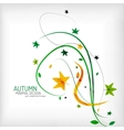 Seasonal autumn greeting card minimal design vector image