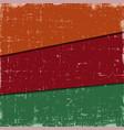 Set layer grunge vintage textures in three vector image
