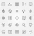 solar energy icons set vector image