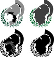 set of ancient winners vector image vector image