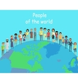 People of the World Concept on Globe vector image