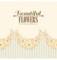 Seamless fabric design of hibiscus vector image
