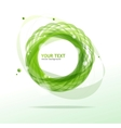 Abstraction green background vector image