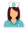 avatar woman nurse graphic vector image