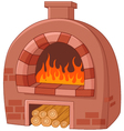 Cartoon traditional oven vector image
