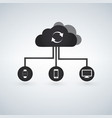 cloud computing concept design devices connected vector image