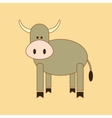 flat icon on background Kids toy cow vector image