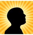 Human silhouette idea concept vector image