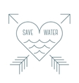 Save water symbol vector image