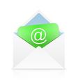 White open envelope vector image