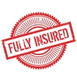 Fully insured stamp vector image