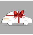 Gift wrapped car vector image vector image