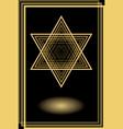 david star in optical art style golden motif on vector image