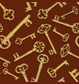 vintage key seamless background close the door vector image