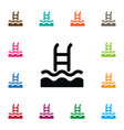 Isolated swimming pool icon basin element vector image