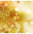 Festive gold Christmas with bokeh lights EPS 10 vector image vector image