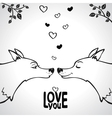 wolf love vector image vector image