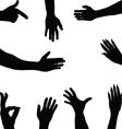 hands 2 vector image