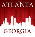 Atlanta Georgia city skyline silhouette vector image