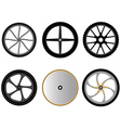 bicycle wheels without spokes vector image