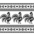 Seamless Polish monochrome folk art pattern vector image vector image