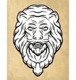 Lion head door knocker vector image vector image