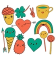 cute hand drawn doodle collection vector image