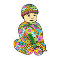 baby-boy-colorful vector image