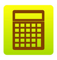 calculator simple sign brown icon at vector image