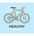 creative sport bicycle with text on blue vector image