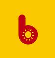 Letter B sun logo icon design template elements vector image
