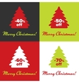 Merry Christmas stiker vector image