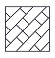 parquet line icon sign on vector image