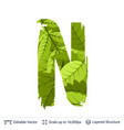spring green bright leaves letter vector image