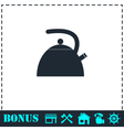 Teapot kettle icon flat vector image
