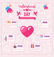 valentines day infographic set of template vector image