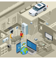 Internet Of Things Concept Isometric Poster vector image