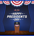 happy presidents day background vector image