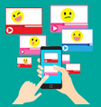 videos provide a variety of entertainment options vector image