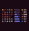 pixel art interface vector image vector image