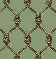 Rope seamless tied fishnet pattern vector image vector image