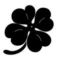 Leaf clover sign icon Saint Patrick symbol vector image