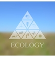 blurred landscape with eco icons vector image