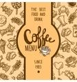 Coffee Menu Label vector image