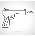 Contour icon for air gun vector image