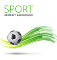 Design with football vector image