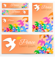 Dove silhouette Logo poster banner template vector image