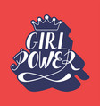 hand written lettering girl power vector image