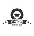 logo for billiard school club or shop vector image