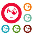 smile icons circle set vector image